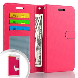 Moto G Power 2021 MM Folio Wallet Case Hot Pink