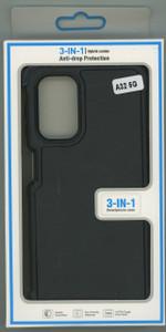 Samsung A12 5G MM Rugged Case W/ Holster Black