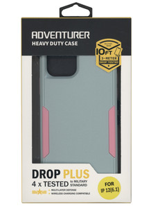 IPhone 12 Pro Max Adventure Case W/ Holster Blue Pink