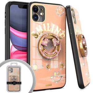 iPhone 12/12 Pro MM Bling Ring Case Smiling Rose Gold