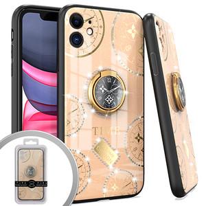 iPhone 12/12 Pro MM Bling Ring Case Time Design Rose Gold
