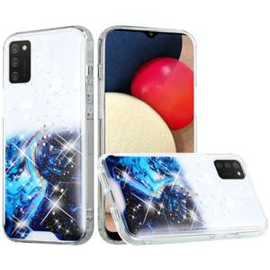 Samsung A02S MM Two Tone Glitter Case Blue Star