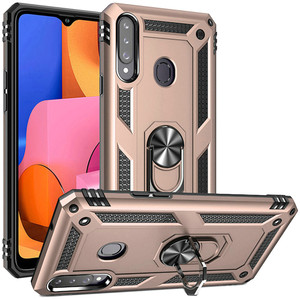 Samsung A02S MM Rugged Ring Stand Case Gold