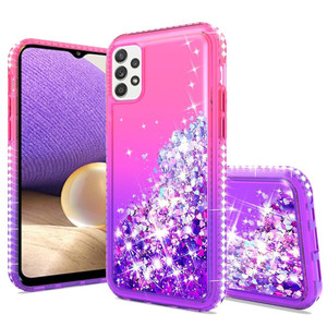 Samsung A32 5G MM Water Glitter Two Tone Pink Purple