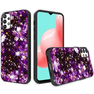 Samsung A32 5G MM Marble Design Case Purple Flower