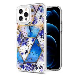 iPhone 11 MM Epoxy Glitter Design Blue Rhombus