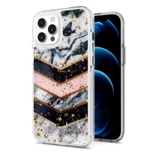 iPhone 11 MM Epoxy Glitter Design Multi Color Stripe