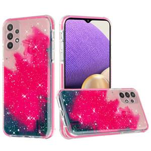 Samsung A32 5G MM Epoxy Glitter Case W Star Hot Pink