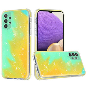 Samsung A32 5G MM Epoxy Glitter Case Lime Green And Yellow