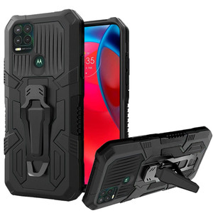 Motorola G Stylus 5G MM Metal Opener Kickstand Case Black
