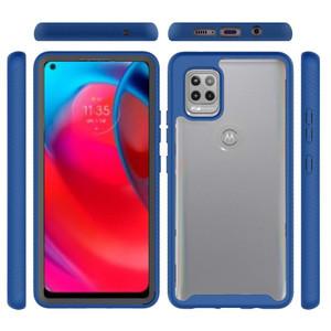 Motorola G Stylus 5G MM Clear Rugged Case Blue