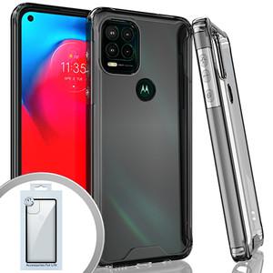 Moto G Stylus 5G MM Prozkin Case Clear W Black