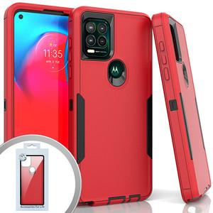 Moto G Stylus 5G MM Commander Case Red
