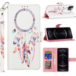 Samsung A02s Design Wallet Card Holder Case Dream Catcher White