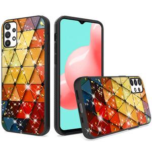 Samsung A32 5G Glitter Design Hybrid Case Triangle Rhombus