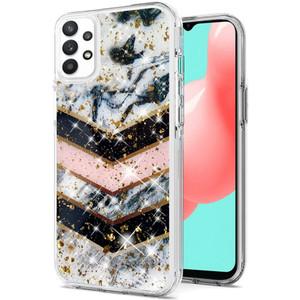 Samsung A32 5G Epoxy Glitter Hybrid Case Luxury Marble