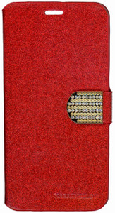 SAMSUNG NOTE 5 Glitter Bling Wallet Red