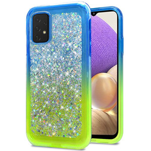Samsung A32 5G Sprinkled Epoxy Case Neon Green AND Blue