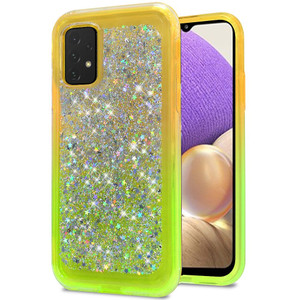 Samsung A32 5G Sprinkled Epoxy Case Neon Green AND Yellow