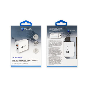 Home Pro PD & USB Dual Fast Charging Travel Adapter