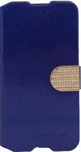 Alcatel Idol 3 5.5 Glitter Bling Wallet Blue