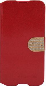 Alcatel Idol 3 5.5 Glitter Bling Wallet Red