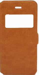 IPhone 5/5S/SE Caller ID Flip Wallet Orange