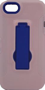IPhone 5/5S Armor Horizontal With Kickstand Pink & Blue