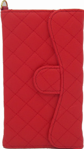 LG G2 Quilted Wallet With Chain Red