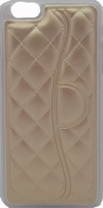 Iphone 6/6S PLUS Quilted Leather Bumper Gold