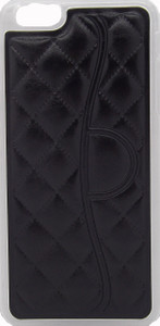 Iphone 6/6S PLUS Quilted Leather Bumper Black