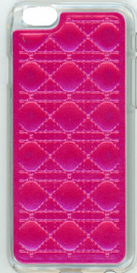 Iphone 6/6S Argyle Leather Pink