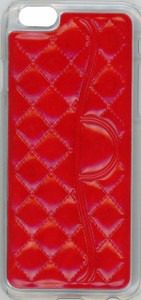 Iphone 6/6S Quilted Leather Bumper Red