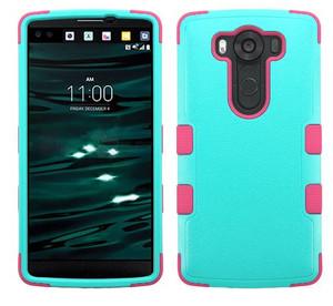 LG V10 MYBAT Natural Teal Green/Electric Pink TUFF Hybrid Phone Protector Cover