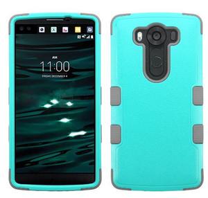 LG V10 MYBAT Natural Teal Green/Iron Gray TUFF Hybrid Phone Protector Cover