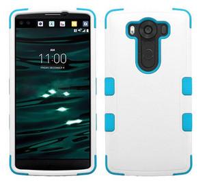 LG V10 MYBAT Natural Ivory White/Tropical Teal TUFF Hybrid Phone Protector Cover