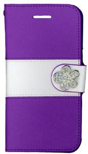 Iphone 6/6S MM Flower Wallet Purple
