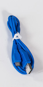 Micro Round USB Cable Blue