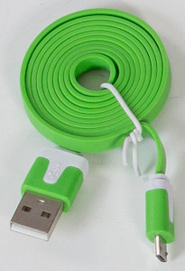 Micro Flat USB Cable Green