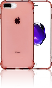 iphone 7 PLUS/8 PLUS Clear Case With Air Cushion Hot Pink