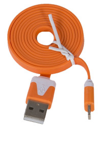 Lightning Flat USB Cable Orange