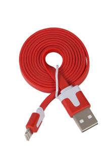 Lightning Flat USB Cable Red