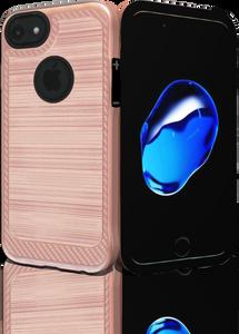 Iphone 8/7 MM Metal Carbon Fiber Rose Gold