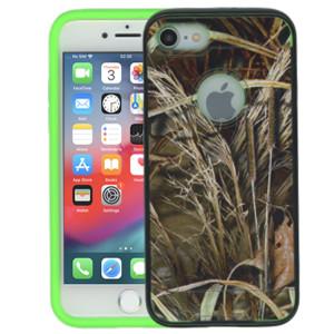 Iphone 7  MM Slim Dura Metal Finish Green Camo & Lime Green