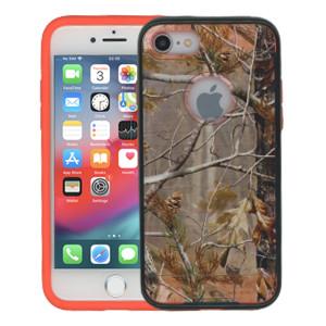 Iphone 7  MM Slim Dura Metal Finish Brown Camo & Orange