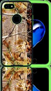 Iphone 7  MM Slim Dura Metal Finish Brown Camo & Lime Green