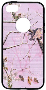 Iphone SE/5S/5 MM Slim Dura Metal Finish Pink Camo & Black