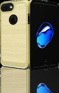 Iphone 7 PLUS/8 PLUS MM Metal Carbon Fiber Gold