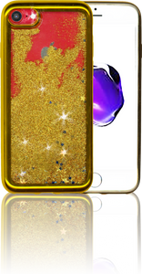 Iphone 8/7 MM Electroplated Glitter Case With Stars Gold