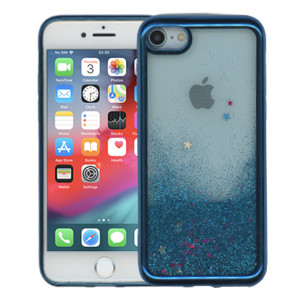 Iphone 8/7 MM Electroplated Glitter Case With Stars Blue